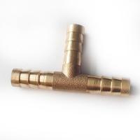 Тройник латунный на трубку 8 или 10 мм