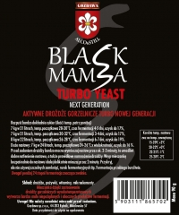 Спиртовые турбо дрожжи Black Mamba 105g