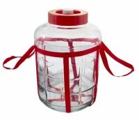 Бутыль стеклянный с гидрозатвором и краном 25 л