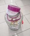 Бутыль стеклянная 10 литров с ручкой и краном