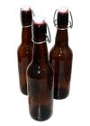 Бутылка из темного сткекла с бугельным замком 0,5л