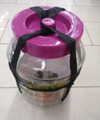 Бутыль стеклянная 9 литров с гидрозатвором